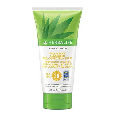 Herbal Aloe Protector Solar de Amplio Espectro FPS 30 para la Cara y el Cuerpo