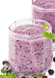 Blueberry and Cranberry Shake