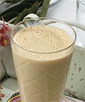 Shake de Chocolate Cremoso com Mamão Papaia