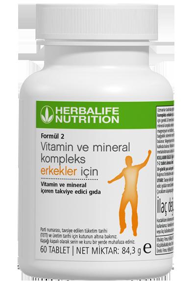 Formül 2 Vitamin ve Mineral Kompleks Erkekler İçin